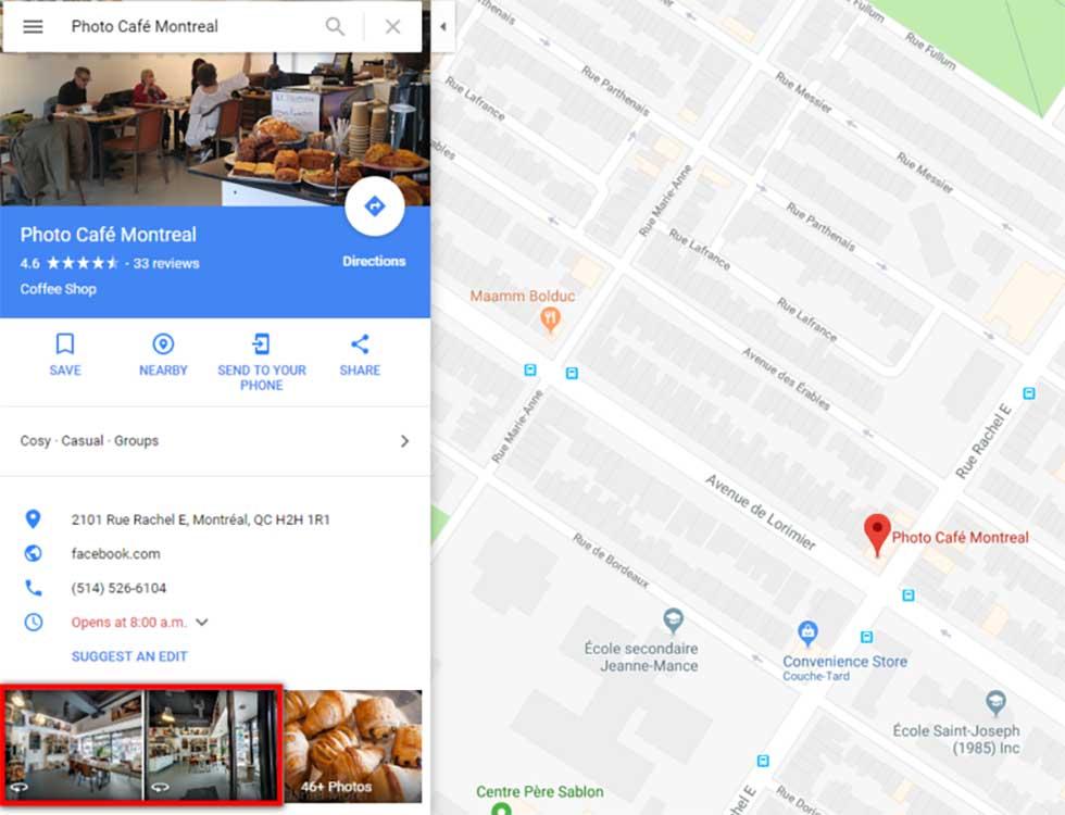 فرآیند تحقیق در گوگل مپ