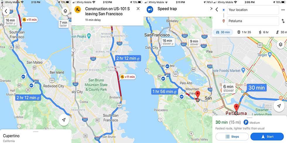 چگونه ترافیک را در گوگل مپ چک کنیم