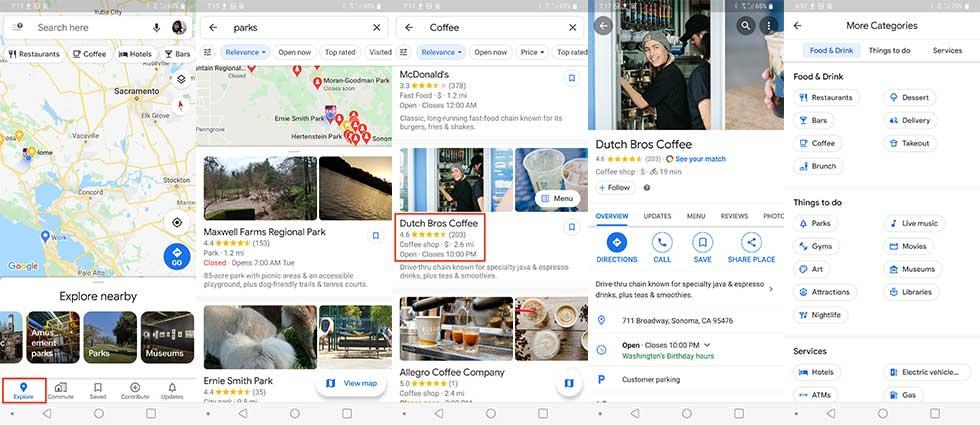 چگونه موقعیتهای نزدیک را در گوگل مپ پیدا کنیم
