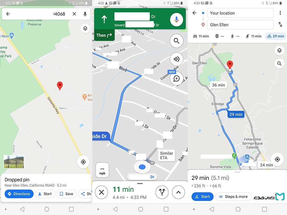 چگونه مسیرها را به سرعت در گوگل مپ پیدا کنیم