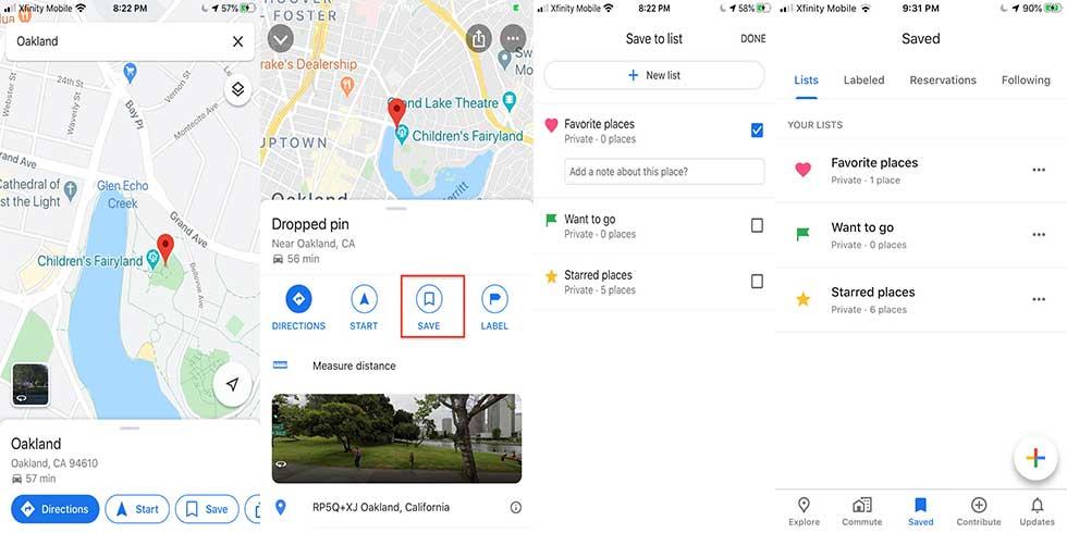 چگونه موقعیتهای مورد علاقه خود را در گوگل مپ ذخیره کنیم