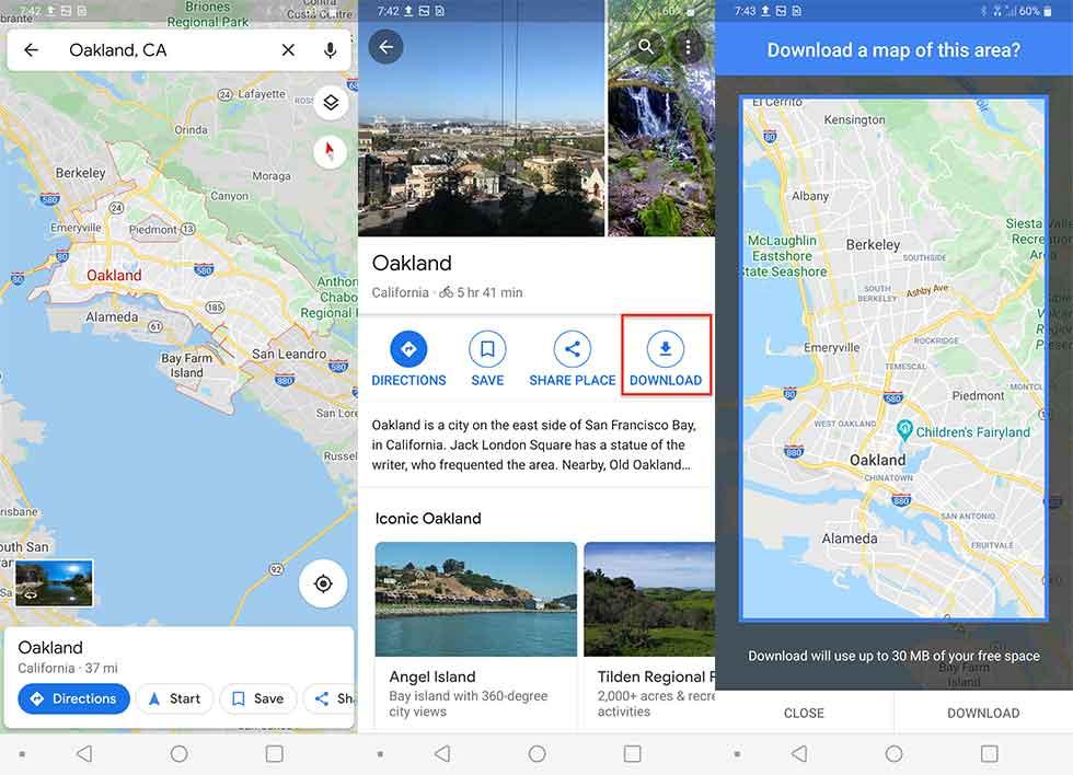 چگونه نقشهها را در گوگل مپ آفلاین ببینیم1