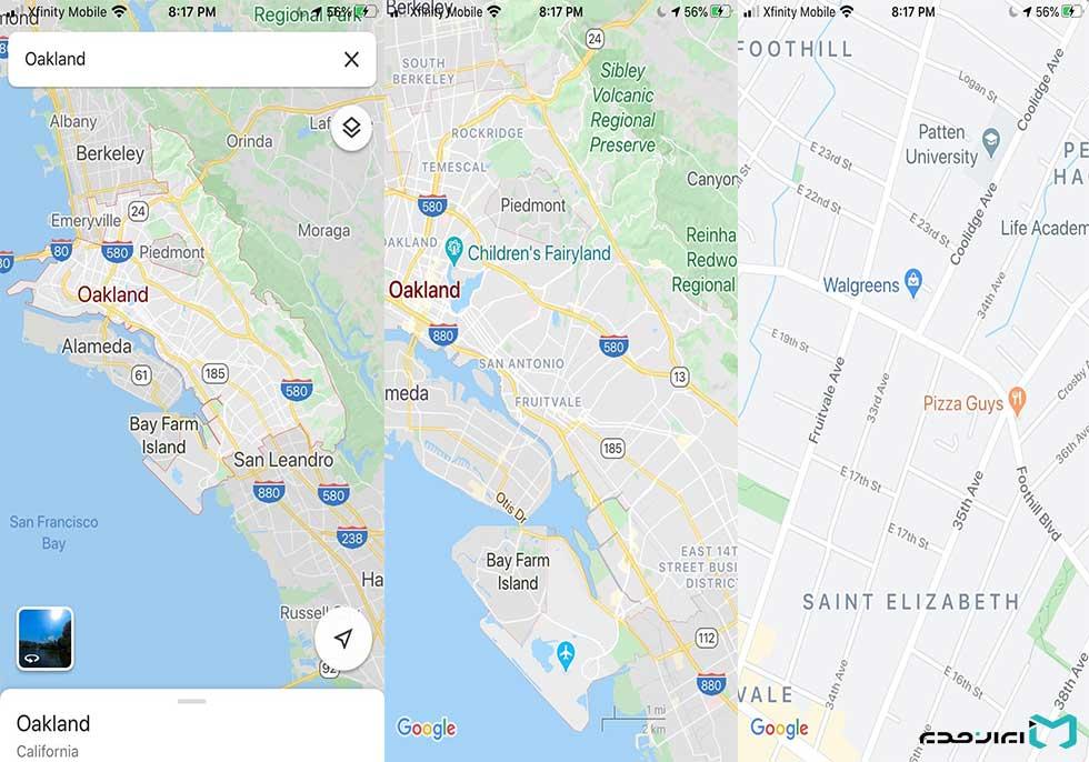 چگونه با یک دست روی نقشه گوگل مپ بزرگنمایی کنیم