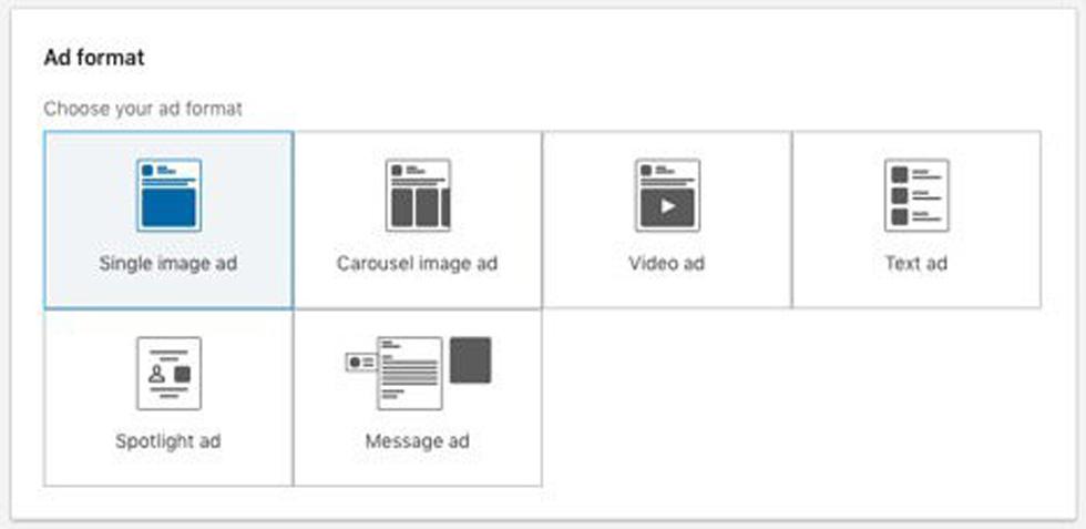 تبلیغات در لینکدین و فرمت آگهی
