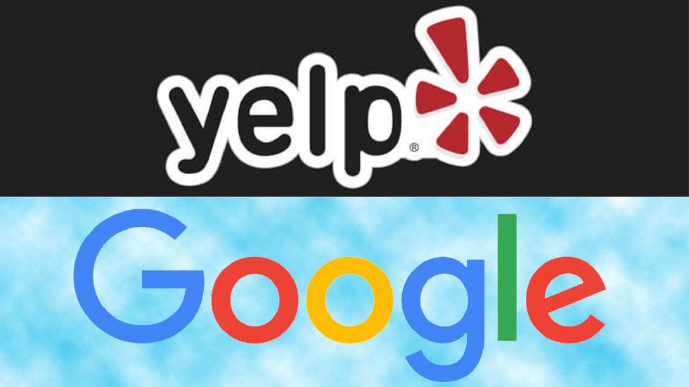 استراتژی کشش و رانش yelp و google