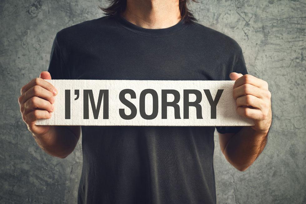 اهمال کاری سازمانی و عذر خواهی