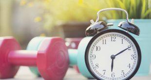 زمان ورزش کردن